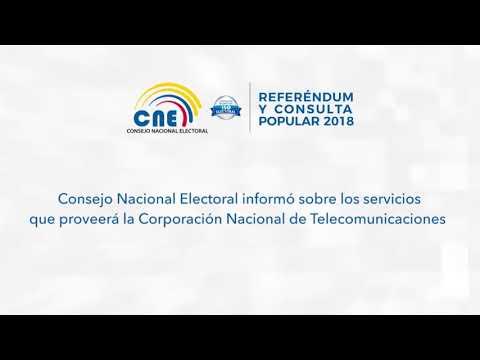 Consejo Nacional Electoral informó sobre los servicios que proveerá CNT.