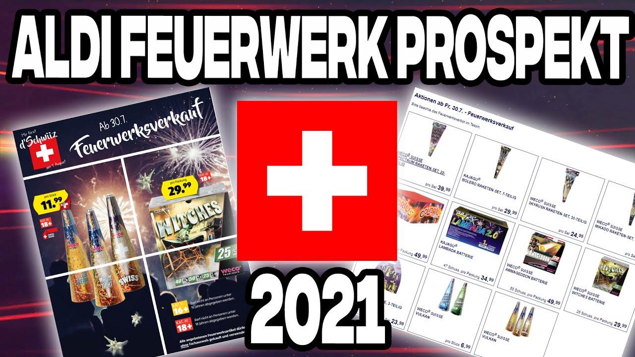 Aldi Schweiz Feuerwerk Prospekt 2021   1. August