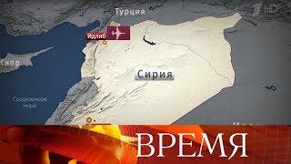 В сирийской провинции Идлиб сбит российский самолет Су-25, летчик погиб.
