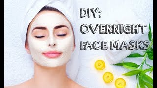 2 OVERNIGHT FACE MASKS FOR BEAUTIFUL GLOWING SKIN