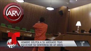 Reo atacó a mordiscos a su abogado al escuchar su sentencia | Al Rojo Vivo | Telemundo