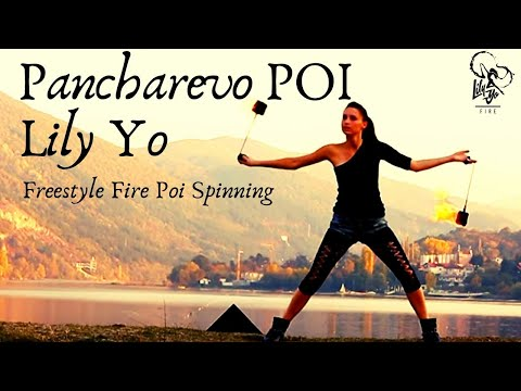 Lily Yo Fire Poi Freestyle - Pancharevo Lake