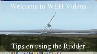 Tips on using the Rudder ~ X Plane 10 Tutorial