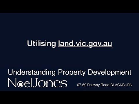 Understanding Property Development - Using land.vic.gov.au