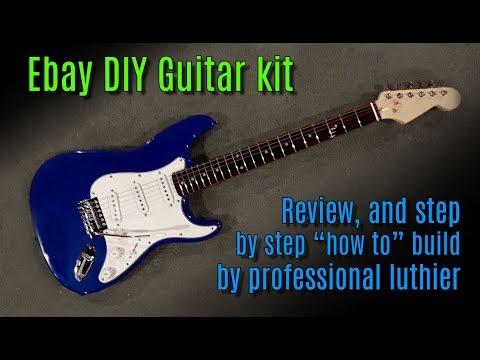 Ebay DIY guitar kit review & build tutorial by professional guitar builder