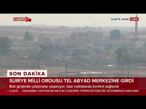 Suriye Milli Ordusu Tel Abyad ilçe merkezine giriş yaptı.