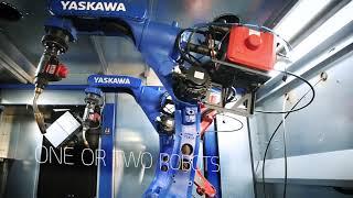Two Robot Welders! - The Motoman ArcWorld V2
