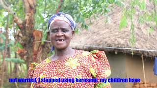 Martha Seche from Cheboswa village she no longer worries about kerosene as she is now a solar owner.