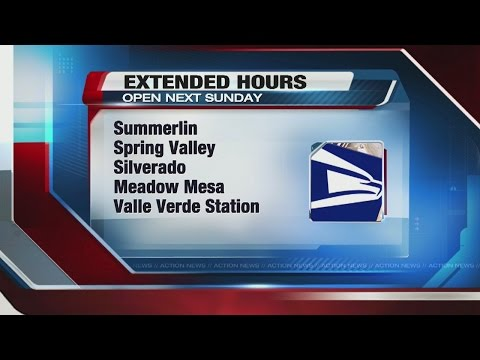 Extended hours at Las Vegas post offices