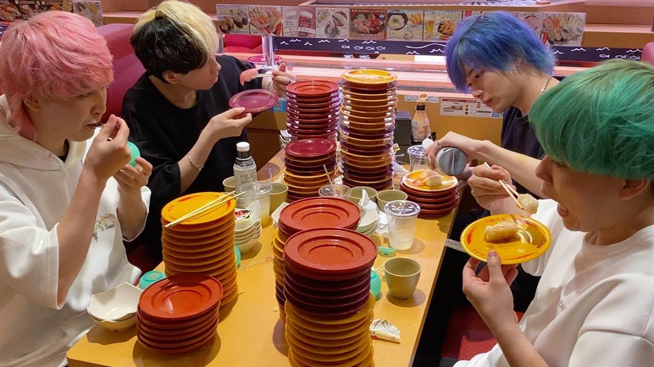 【皿を積み上げろ】回転寿司の大食いで合計100皿超えて過去最高に限界突破の大波乱だった…