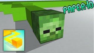 Monster School : PAPER.IO 2 CHALLENGE - Minecraft Animation