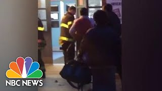Firefighters Pry Open Doors Where Polling Place Worker Was Trapped | NBC News
