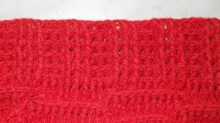 Узор Резинка рельефная 3х3 - Crochet pattern gum relief - рельефные узоры