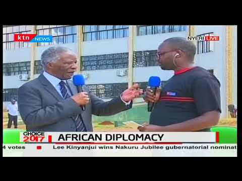 Thabo Mbeki giving his opinion on the the African Education