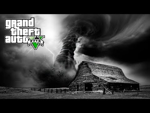 SAVING MY FAMILY!!! SCARY TORNADO DESTROYED OUR FARM!!! (GTA V Mods)