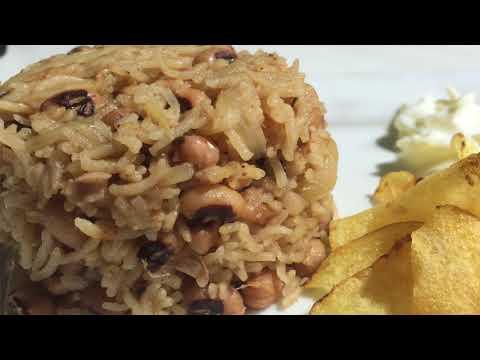 Karamani Pulav | Black Eyed Beans Rice | காராமணி புலவ்