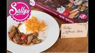 Sallys türkische Küche / mein neues Buch / Gewinnspiel / Kebab mit frittierten Kartoffelchips