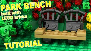 Tutorial - Lego Park Bench