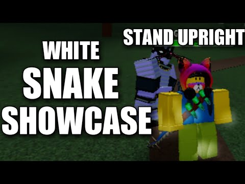 Roblox Stand Upright White Snake Showcase Youtube