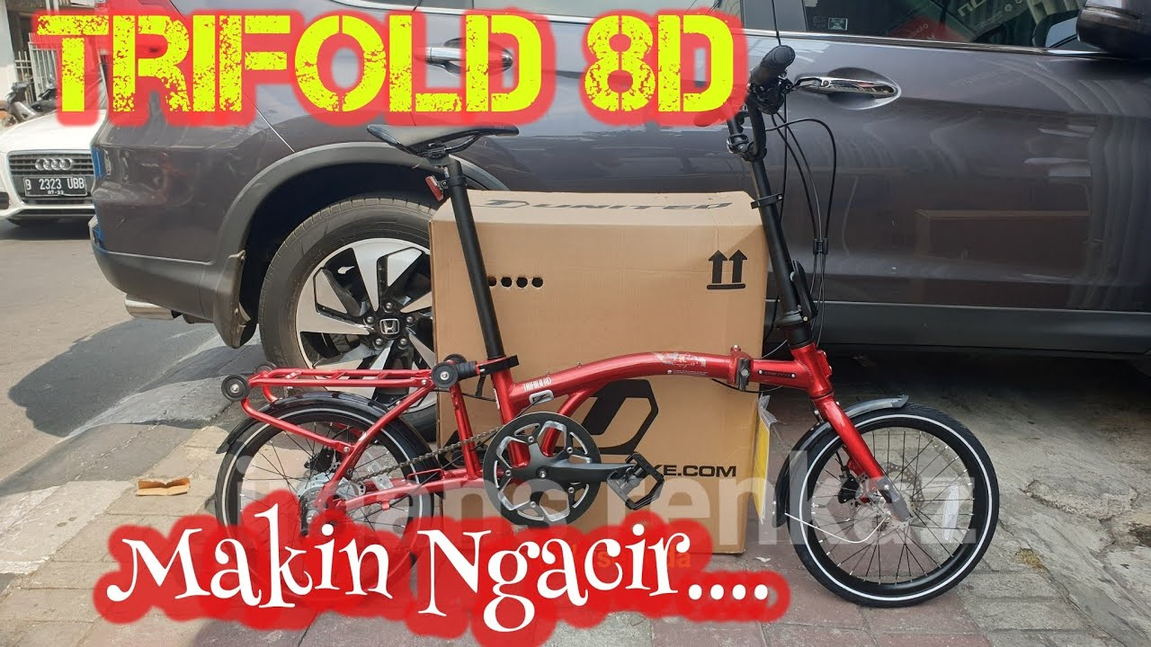 New Realase Sepeda Lipat UNITED Trifold 8D   Rem Cakram