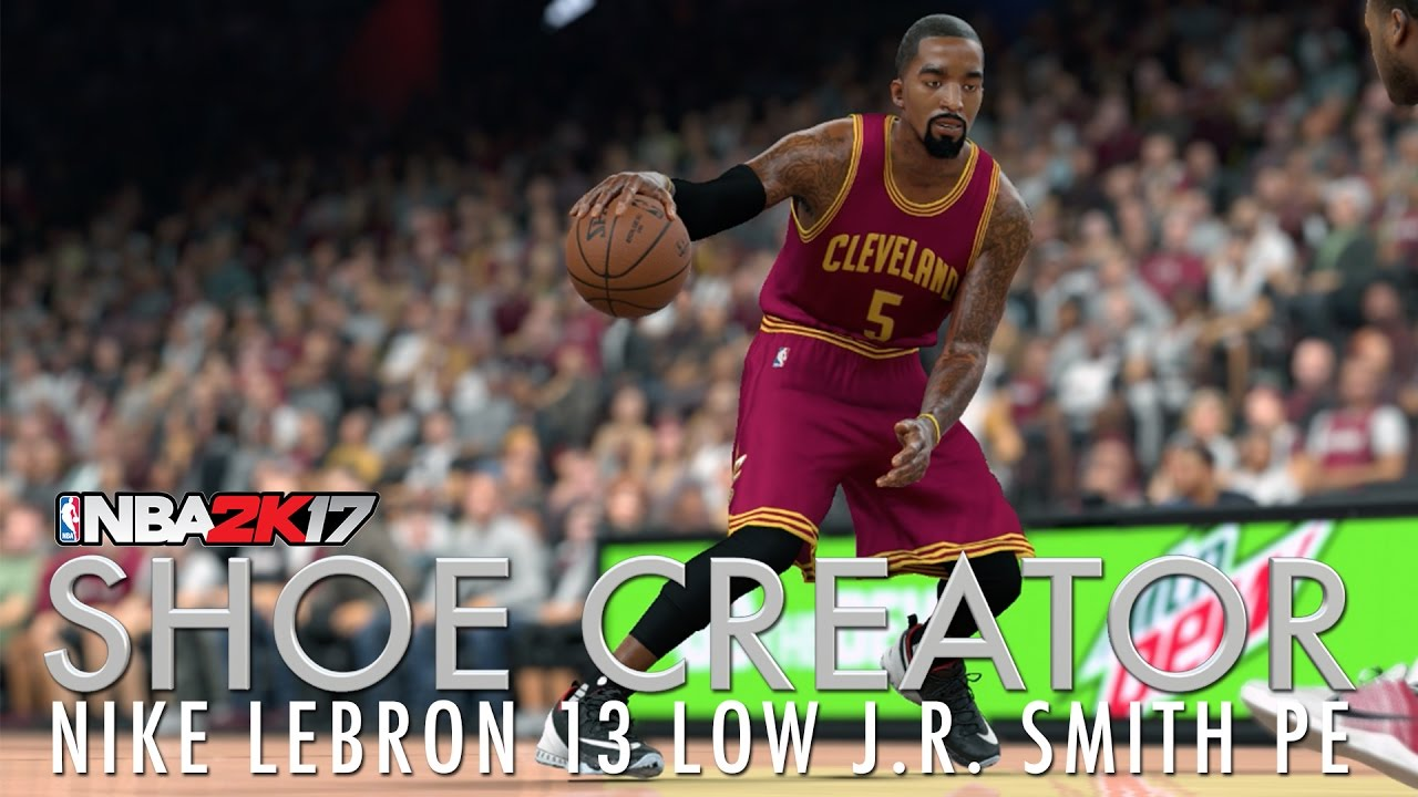 faaf6b12fe5 NBA 2K17 Shoe Creator  Nike LeBron 13 Low JR Smith PE - YouTube