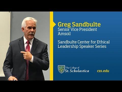 Sandbulte Center for Ethical Leadership Speaker Series: Greg Sandbulte