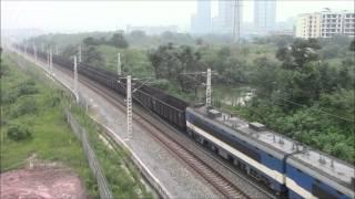 韶山3B型电力机车China Railways SS3B towing 37 wagons中国電気機関車SS3B系37両貨物が重慶を走る 26/Jul/2015
