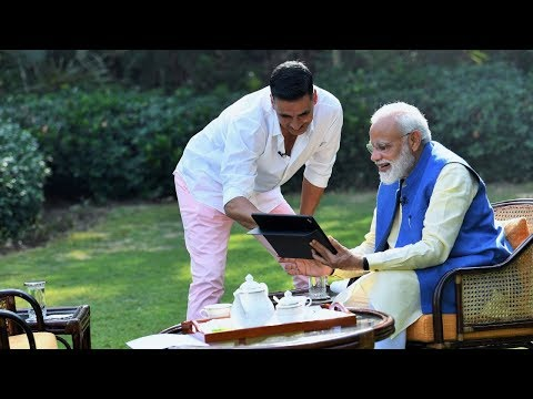 PM Modi in conversation with Akshay Kumar