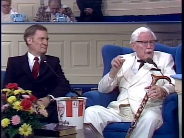 KFC-Kentucky Fried Chicken Founder Colonel Sanders Testimony of Born Again,Healing