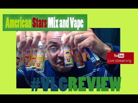 American Stars Mix and Vape LIVE Greek Review Part 2  ΚΛΗΡΩΣΕΙΣ