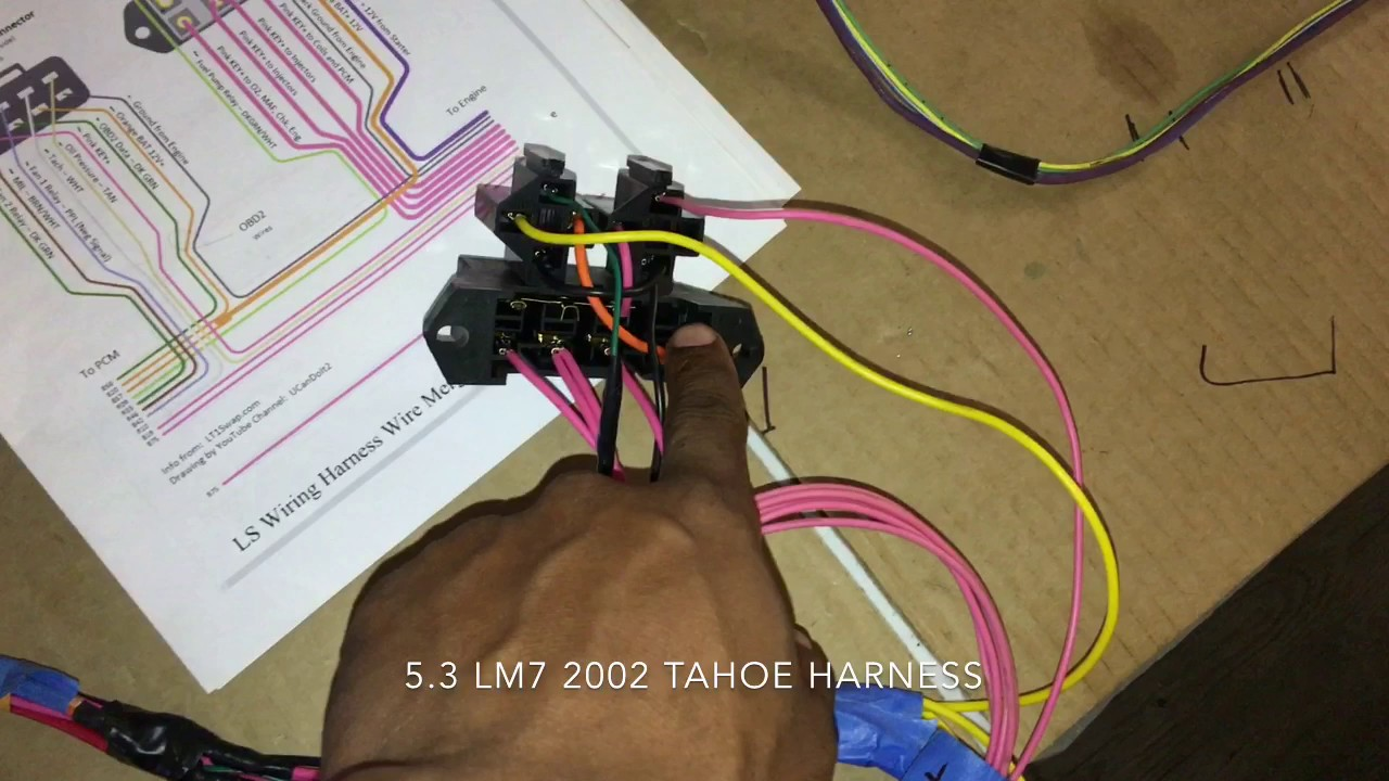 5 3 ls swap part 6 wiring harness video 3 4 1978 caprice classic rh youtube com
