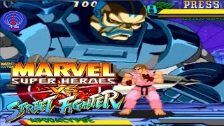 Marvel Super Heroes Vs Street Fighter - CPS2 - Apocalypse Short Walkthrough [REVIEW IN SPANISH]