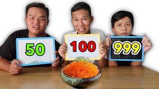 Trận Chiến Đoán Số Lượng Của Đồ Ăn | Đoán Sai Phải Ăn