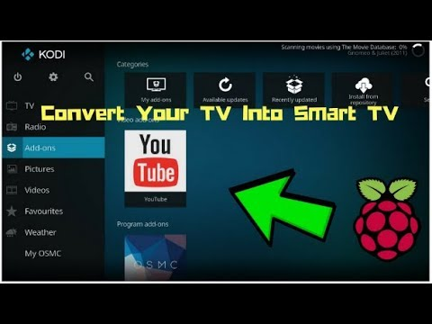 DIY Smart TV - Raspberry pi Zero W    OSMC