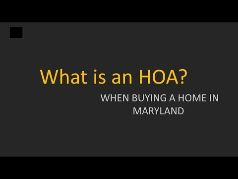 What is an HOA?  Buying NO HOA Homes in Maryland