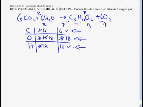 write the chemical equation for photosynthesis Reading chemical equations: in the following equation for photosynthesis : 6co 2 +12 h 2o + light → c 6 h 12 o 6 +6 o 2 +6h 2 o numbers and.