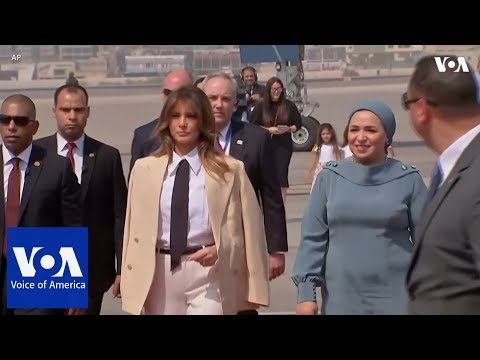 US First Lady Melania Trump Visits Egypt