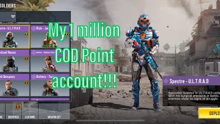 My 1 MILLION COD Point Account!! (Pt. 2, character skins, COD Mobile)