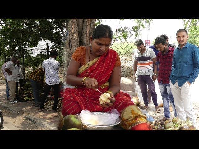 Tati Munjulu Selling at Hyderabad   తాటి ముంజులా మజాకా.. ఒక సారి తినాల్సిందే