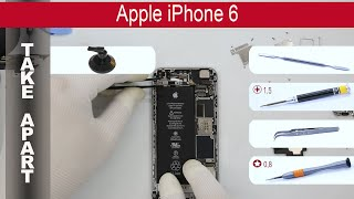 How to disassemble 📱 🍎 Apple iPhone 6 (A1549, A1586, A1589) Take Apart(How to disassemble Apple iPhone 6 by himself. Disassembly (take apart) and repair smartphone Apple iPhone 6 (A1549, A1586, A1589) at home with a ..., 2015-11-08T08:14:49.000Z)