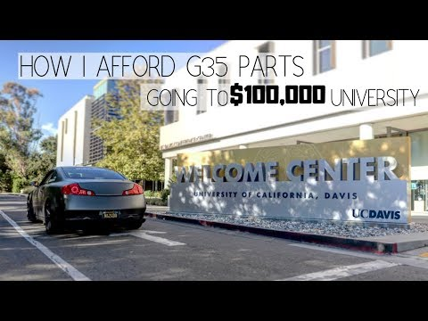 How I AFFORD G35 PARTS Going To $100000 UNIVERSITY