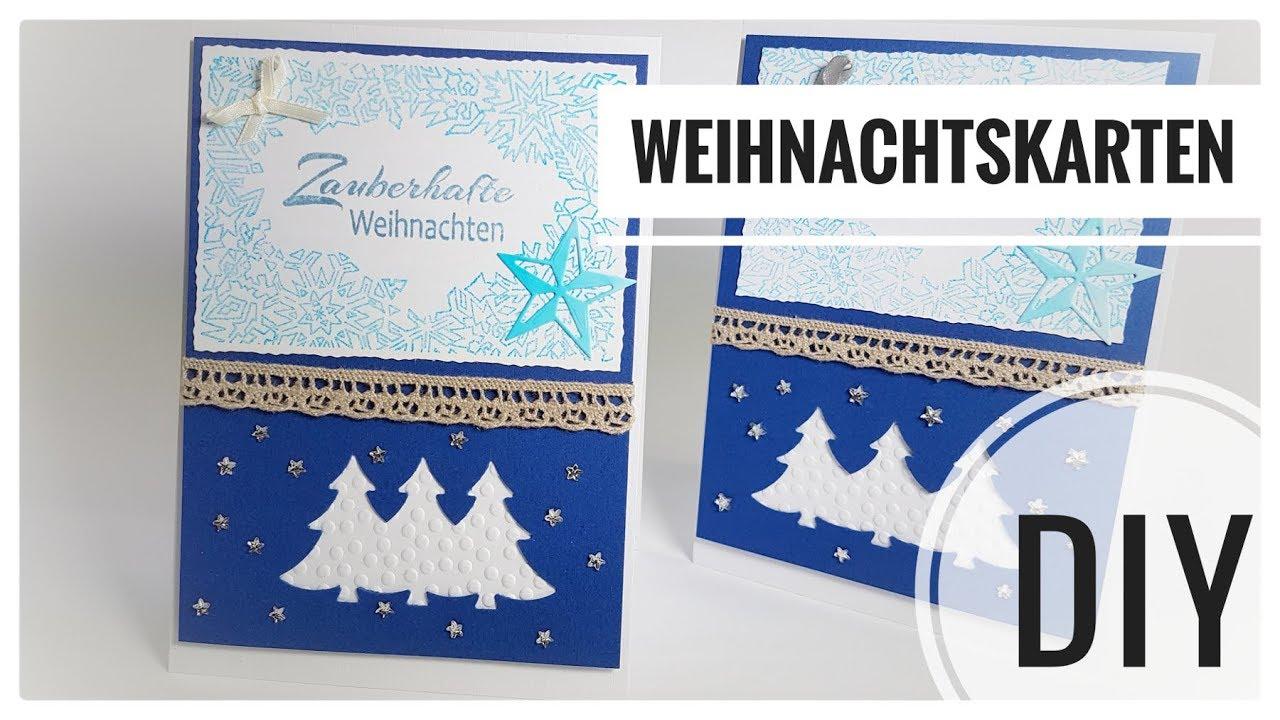 Bezaubernd Edle Weihnachtskarten Basteln Referenz Von Schöne / Karte Selberbasteln Diy Idee Kartenbasteln