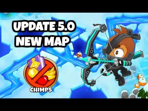 Bloons TD 6 - UPDATE 5 0 - CHIMPS New Map FROZEN OVER! (feat  Cyber Quincy)