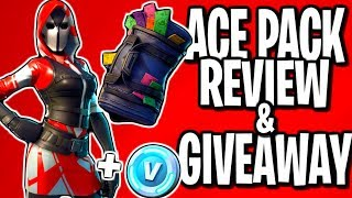 NEW FORTNITE ACE PACK + SWAG BAG BACK BLING REVIEW & GIVEAWAY (PS4)