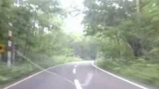 北海道、登別から道道2号、旧道オロフレ峠展望台まで。