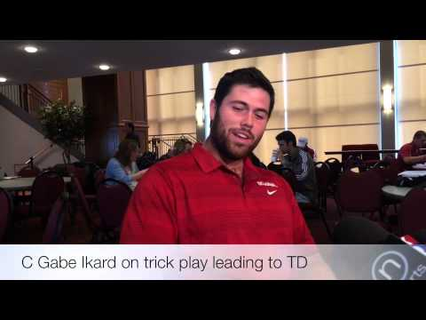 Gabe Ikard on trick play