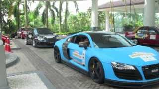 Ferrari Super Cars Rally at Thistle Hotel Johor Bahru December 2011 HD 1080p