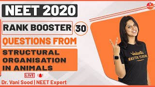 Rank Booster Questions From Structural Organisation in Animals For NEET 2020 | Vedantu