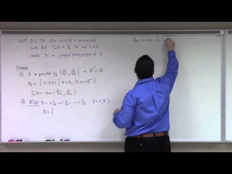 Advanced Calculus: Lecture 26 Part 1: Frobenius Theorem about vectors, forms and foliations