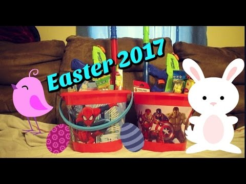 Boys easter baskets dollar tree age 7 4 2017 youtube boys easter baskets dollar tree age 7 4 2017 negle Choice Image